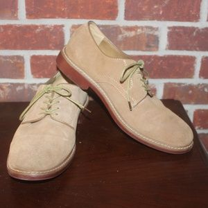 Bass Brockton Oxford Tan Suede Leather 10.5 M NICE